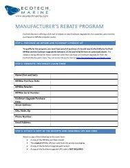 EcoSmart Rebate - EcoTech Marine