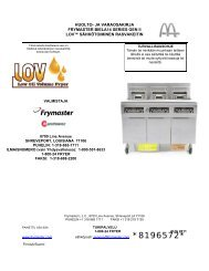 huolto- ja varaosakirja frymaster biela14 series gen ii lov ...