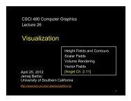 Visualization - University of Southern California