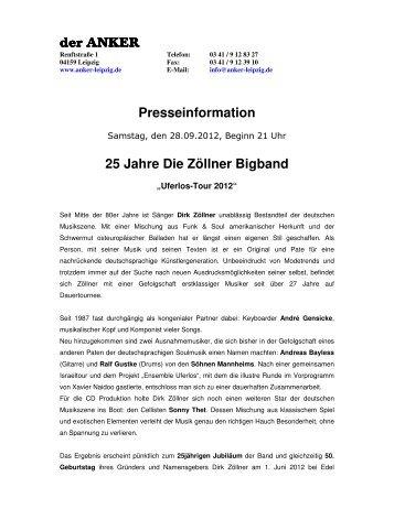25 Jahre Die Zöllner Bigband - Anker