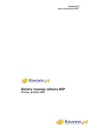 Bariery rozwoju sektora MSP - Favore.pl