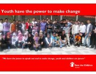 Youth have the power to make change - Save the Children Sweden's