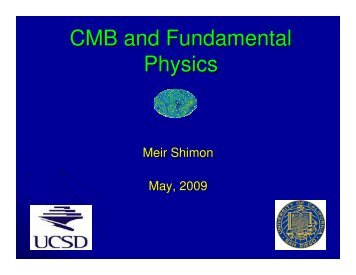 CMB and Fundamental Physics
