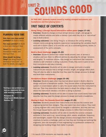 Unit table of contents - PBS Kids
