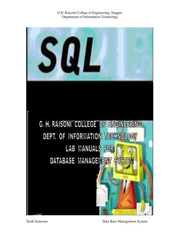 G.H. Raisoni College of Engineering, Nagpur. Department of ...