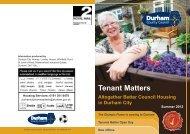 Tenant Matters Summer 2012 (2) .pdf - Durham County Council