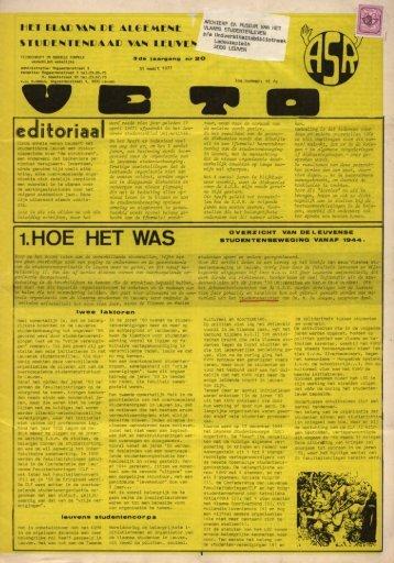 1.HOE HET WAS - archief van Veto