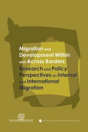 Migration and Development Within and Across Borders - IOM ...