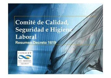 Resumen decreto 1619 - Mendoza CONICET