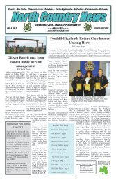 North Country News, March, 2011.