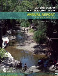 ANNUAL REPORT - San Luis Obispo Downtown Association