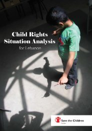 Child Rights Situation Analysis for Lebanon - Save the Children ...