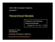 Hierarchical Models - University of Southern California