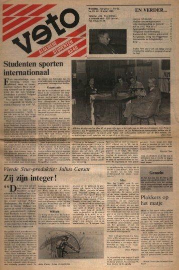 Studenten sporten internationaal Zij zijn integer! - archief van Veto