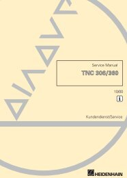 Service Manual TNC 306, TNC 360 - heidenhain