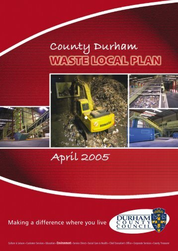 Waste Plan text 2005 pdf - Durham County Council
