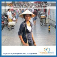 YOU CAN AFFORD TO STUDY ABROAD - DiversityAbroad.com