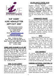 raf digby hive newsletter sept/oct 2007 - Royal Air Force