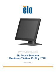 Elo Touch Solutions Monitores Táctiles 1517L y 1717L