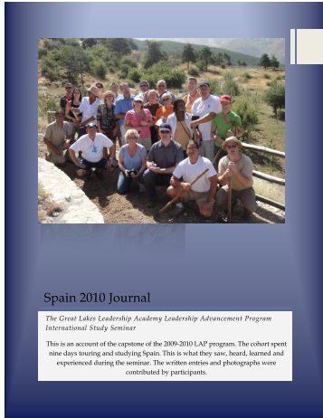 Spain 2010 Journal - Great Lakes Leadership Academy
