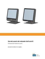 Guía del usuario del ordenador táctil serie B - Elo Touch Solutions