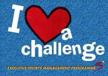 EXECUTIVE SPORTS MANAGEMENT PROGRAMME - SuperSport