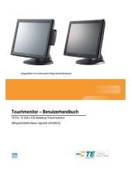 Touchmonitor – Benutzerhandbuch - Elo TouchSystems