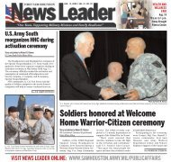 Soldiers honored at Welcome Home Warrior-Citizen ceremony