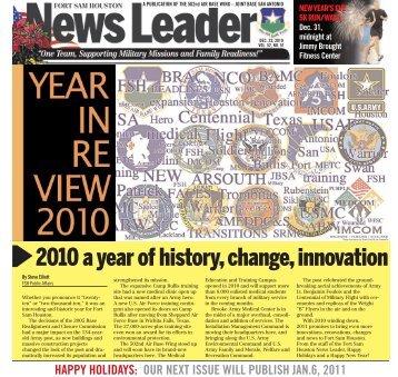 2010 a year of history, change, innovation - Fort Sam Houston - U.S. ...