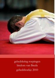 gebedskring roepingen bisdom van Breda gebedsboekje 2010