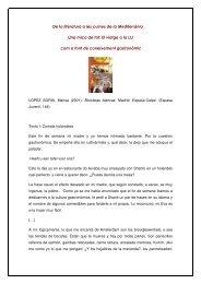 De la literatura a les cuines de la Mediterrània Una mica de tot: El ...