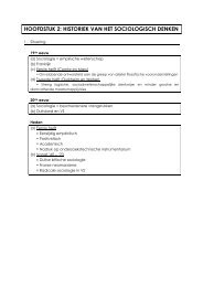 hoofdstuk 2: historiek van het sociologisch denken - Bloggen.be