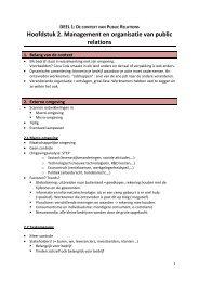 Hoofdstuk 2. Management en organisatie van public ... - Bloggen.be