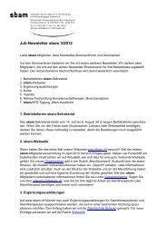 Juli-Newsletter sbam 3/2012