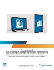 Anwenderhandbuch - Elo TouchSystems