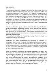 GASTRONOMIE 'Inderdaad: gastronomische ... - SeniorenNet