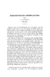 KARO-BATAKSCHE OFFERPLAATSEN. - Books and Journals