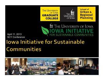 Iowa Initiative for Sustainable Communities Presentation (pdf)