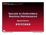 Secrets to Embroidery Machine Maintenance