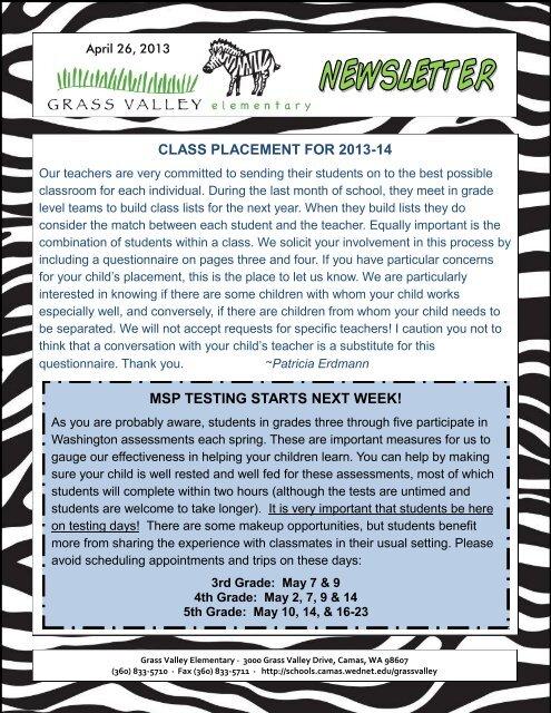 Grass Valley News-April 26, 2013 - Camas School District