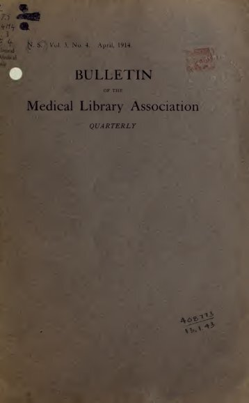 Bulletin - Medical Library Association