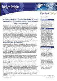 QAD On Demand biedt producenten de hulp- middelen ... - QAD.com