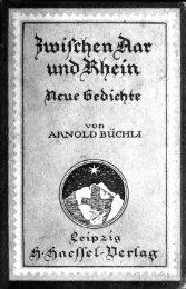 Zwischen Aar und Rhein, neue Gedichte