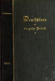 Deutschland und die grosze Politik anno 1901-1914