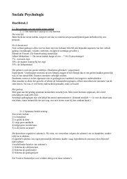 C) Sociale psychologie - hoofdstuk 2.pdf - Bloggen.be