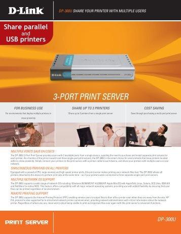 3-PORT PRINT SERVER DP-300U - FTP Directory Listing - D-Link