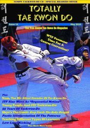 Totally Tae Kwon Do Magazine - Issue 15