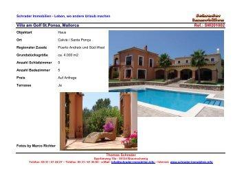 Villa am Golf St.Ponsa, Mallorca Ref.: SW201002 - Schrader ...
