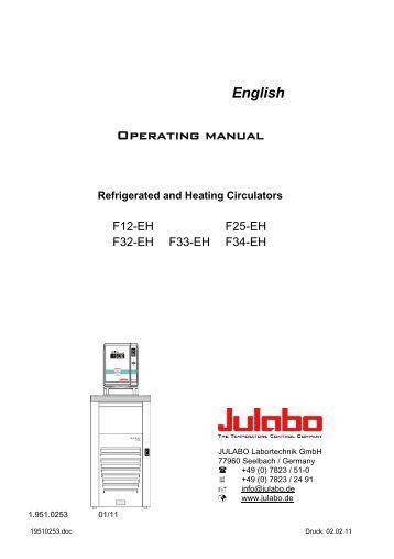 English Operating manual