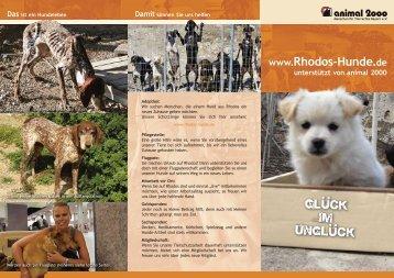 Das ist ein Hundeleben www.rhodos-Hunde.de unterstützt von ...
